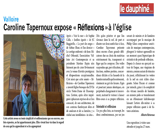 Exhibition Réflexion  I Valloire (Press)